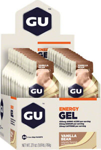 GU Energy Gel: Vanilla Bean, Box of 24
