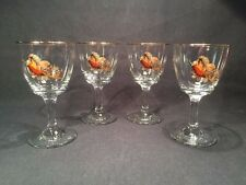 Set Of Four Vintage Famous Grouse Design Wine Glasses (ref W949)