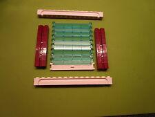 Lego  1 Rolltor mit dunkelroten Nutsteinen