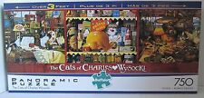 Buffalo 750 Piece PANORAMIC Puzzle THE CATS OF CHARLES WYSOCKI Max Ethel Maggie