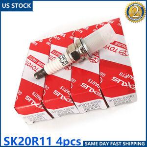 4X Iridium Spark Plugs 90919-01210 SK20R11 For Toyota Camry RAV4 Avalon US Stock