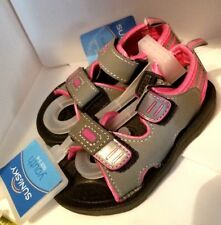 Shoes Water Shoes Girl's Size 5 - 6 Sandals Pink & Grey 2 Strap Aqua Rubber Sole