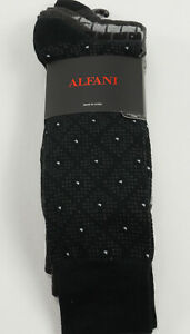 2 Pairs of New Alfani Men's 7-12 Black Grey Wicking Seamless Antimicrobial Socks