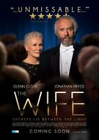 The Wife (2018) Glenn Close Jonathan Pryce Christian Slater Movie Poster NEW