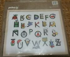 Cross Stitch Kit ABC Alphabet Chart Baby's Room Nursery Pako MIFFY / DICK BRUNA