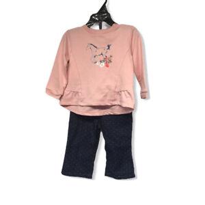 Infant Girls size 9month Carhartt Horse Flower 2 Piece Set (H-6)