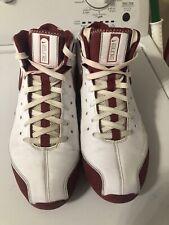 Nike Mens Shox Elite Flight Basketball Shoes White 324826-162  Lace Up Sz 11