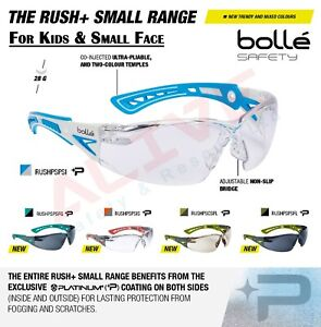 Bolle Rush+ Small Safety Glasses For Narrow Face & Kids PPE Eyes Protection