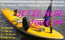 Motorsurfboard mit 2 PS Aquascooter u. 2 Segeln