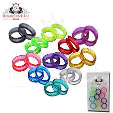 22 Finger Ring Inserts for Hairdressing Barber Scissors, Sparking Colours Design