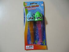 2 pack Dive Squid diving sticks (Blue and Green), Brand New Sealed for ages 3+