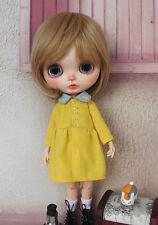 Cute Handmade Blythe yellow Dress  Blythe Clothes fit Blythe Azone Dal Momoko