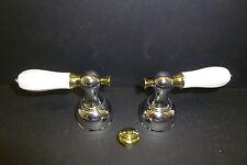 Delta Faucet H212CB Faucet Porcelain Lever Handles
