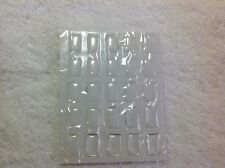 25 Blank Rectangle Epoxy Resin Dome Stickers
