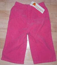 NEW BOUTIQUE BABY GIRLS SPRING PINK CORDUROY PANTS Size 3-6M NWT