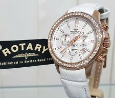Rotary Aquaspeed Ladies Watch Rose gold Swarovski Crystals Genuine RRP£210 (R29