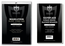 1000 Max Pro Maxlites Ultra Clear Premium Silver Comic Bags and Boards Acid Free