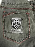 Vintage Mens Coogi Gray Jeans 36x34 Red Stitching Patch Wings Wrench Australian