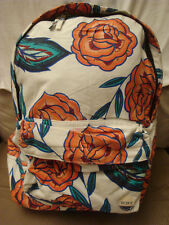 ROXY LARGE ROSES FLORAL SUGAR BABY CANVAS SCHOOL BACKPACK NWT