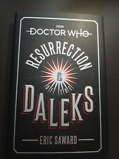 More details for doctor who resurrection of the daleks signed book plus promo poster signed