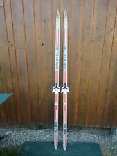 """Ready to Use Cross Country 73"""" Long SPORTSCLUB  190 cm Skis with 3 Pin Bindings"""