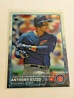 2015 Topps Chrome Baseball Base Card - Anthony Rizzo - Chicago Cubs