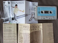 PAUL McCARTNEY Pipes of Peace JAPAN CASSETTE w/PIC SLEEVE ZR28-1103 Free S&H/P&P
