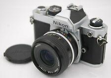 [EXC+5] NIKON FM + Non-AI NIKKOR 35mm F/2.8 SLR 35mm Film Camera From Japan