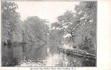 c.1905 Great Egg Harbor River Mays Landing NJ post card
