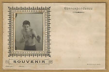Carte Photo card RPPC photo boxe souvenir d'un boxeur bt074