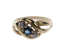 Damen Ring in Gold 585 mit Saphir & Diamanten RW 53/ 16,8 mm Ø (D1570)