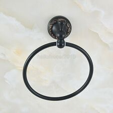 Black Oil Rubbed Brass Wall Mounted Bathroom Towel Ring Holder