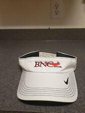 Bnc National Bank Nike Golf Visor Hat Cap White