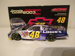 JIMMIE JOHNSON 2003 ACTION #48 LOWE'S/CHEVY 400TH WIN CHROME CHEVY, XRARE!!