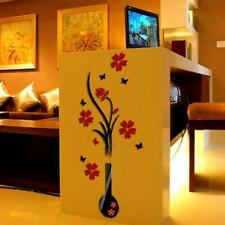 New DIY Vase Flower Tree Crystal Arcylic 3D Wall Stickers Decal Home Decor Hot A
