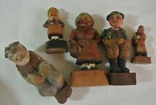 Vtg Anri other Carved Old Woman Men Figures