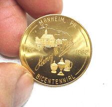 Manheim Pa. 1962 Brass Bicentennial  Coin Token