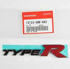 Authentic JDM Honda Civic Type R Rear Emblem 2007-2010 FD2, 75723-SNW-003
