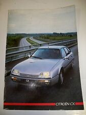 CITROËN CX 1986 - Catalogue commercial (documentation livre magazine)