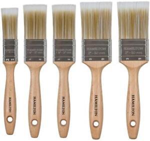 Hamilton Prestige Synthetic Paint Brush Set 5 piece Anza Orkla INCL VAT