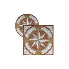 Rosoni rosone mosaico in marmo su rete per interni esterni Ø 80 MEDAGLIONE ROSSO