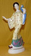 KPM Figur figurine Chinesin mit Papagei chinese lady parrot handbemalt Amberg