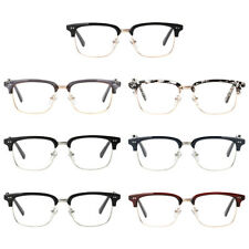 Unisex Retro Plain Glasses Eyeglasses Half Frame Clear Lens Eyeglas Eyewear New