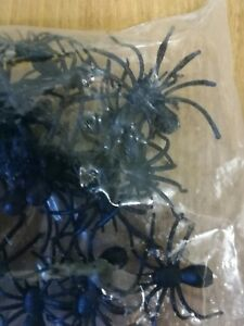 50 Fake Spiders(Approx) in sealed bag.Great for Halloween party. Del guaranteed.