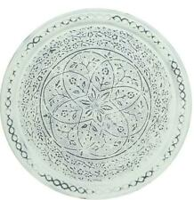 Rustic Scandi Style Round Metal Serving Tray Tea Light Plate Wall Art Decoration