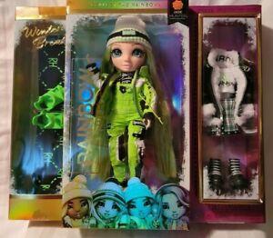 Rainbow High Winter Break Jade Hunter-GREEN Break Fashion Doll