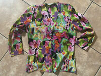 Alberto Makali M Colorful Corset Top Blouse Buttons