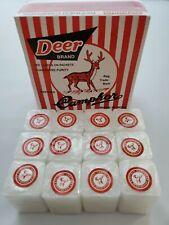 CAMPHOR DEER BRAND Refined Camphor Blocks-Alcanfor Refinado/Deer Brand 12 Blocks