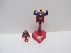Vintage DC Comics Superman Burger King Kids Meal Toy Lot Of 2 t6170