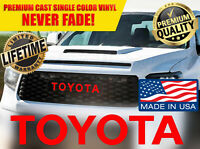 NEW TOYOTA TUNDRA TRD PRO Grill Decal Sticker Letter Grille 2015 16 17 18 2020